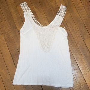 BKE adorable tank crochet/knotted neck & straps